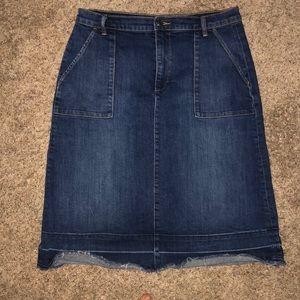 Gap Denim Midi Skirt